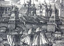 Москва 17 век. офорт, 20х20, 2003 г